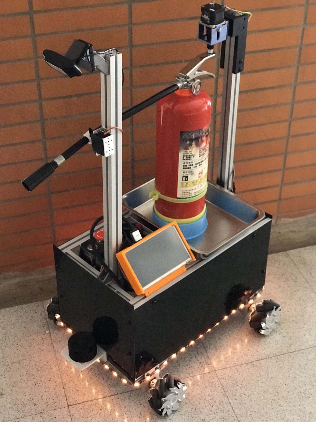智慧預警滅火機器人系統